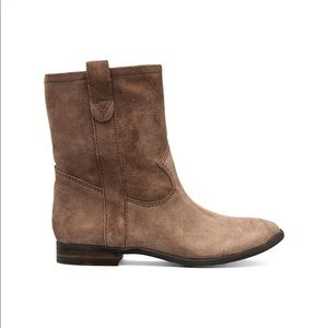 VINCE CAMUTO | FANTI LEATHER BOOTIE BROWN TAUPE